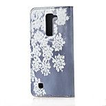 Blooming Flowers Magnetic PU Leather wallet Flip Stand Case cover for LG K7 LG Tribute 5