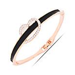 Casual Gold Plated / Alloy / Rhinestone / Gemstone & Crystal Bangle Bracelet