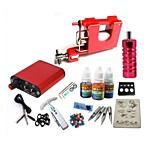 Basekey Tattoo Kit JH553 Gun Machine With Power Supply Grips 10ML Ink