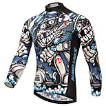 XINTOWN Men's Outdoor Sports Breathable Ultraviolet Resistant Long Sleeve Quick Dry Cycling Jersey