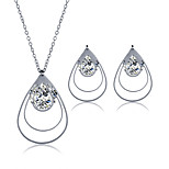2016 Fashion Luxury Lovely teardrop-shaped Zircon Jewelry Set For Women