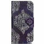 Cross Pattern Leather Wallet Phone Stand Case for Wiko Rainbow Up - Retro Flowers