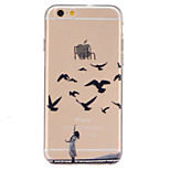 Wild goose Pattern TPU Relief Back Cover Case for iPhone 6/iPhone 6S