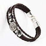 ancre bouton forme pu bracelet pour hommes