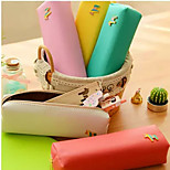 Creative Pony Color Leather Bag Sweet Candy Color Contracted Stationery Bags