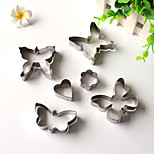 6PCS Butterfly Style Stainless Steel Cake & Cookie Cutters Molds
