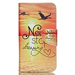 Cross Pattern Phone Leather Wallet Case for Wiko Lenny2 - Never Stop Dreaming