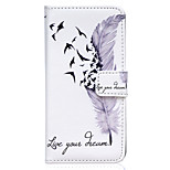 Feather Dream Pattern Embossed PU Leather Case for iPhone 6 Plus/ iPhone 6S Plus