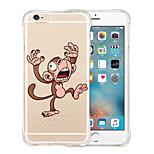 silicone caso de volta transparente mundo animação suave à prova de choque para iPhone 6 Plus / 6s mais (cores sortidas)