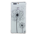 White dandelion Shockproof as TPU soft shell cover Case for Huawei Ascend P9