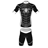 MYKING Men's Cycling Bike Short Sleeve Clothing Set Bicycle Wear Suit Jersey and Shorts Spider