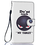 Don't Touch Me Pattern PU Leather Full Body Case with Stand for BQ M 5.0