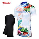 Tasdan Men's Cycling Clothing Cycling Sets  Cycling Jerseys Short sleeve  + Cycling Shorts