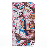 Plum Cat PU leather with Stand Case for Iphone6/6S 4.7