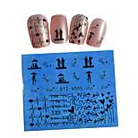 1pcs Black New Nails Art  Water Transfer Sticker  Manicure Nail Art Tips  STZV001-010
