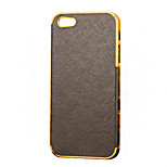 Cross Grain Pattern Leather Hard Case for iPhone5/5S
