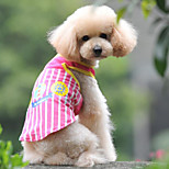 Comfortable Mesh Stripe Printing Pet T-shirt