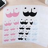 Creative Beard Face Pattern Sticker(Random Color,2 PCS)