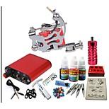 máquina jh550 kit de tatuagem basekey com tinta apertos de alimentação 10ml