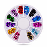1wheel rose nail decorations-Bijoux pour ongles-Doigt- enFleur-6cm wheel