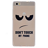 Don't Touch My Phone Pattern Ultrathin TPU Soft Back Cover Case for Huawei P8 Lite