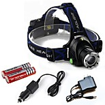 LS1788 HP79 2000LM 3-Mode Cree XM-L T6 LED  Zoomable Focusing Adjustable Rechargeable Headlamp Headlight Kit