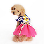 Sweety Naval Stripe Printing Lace Pet Dress