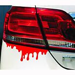 14*5CM Reflective bleeding Personality Car Stickers(1pcs)