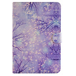 Purple Star Pattern Combo Bracket TPU and PU Leather Material Case for iPad Mini 4