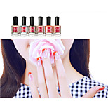 Safe Nontoxic Green Water-based Soak-off Nude Color Nail Polish Kits(6*8ml)