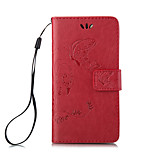 Embossed Butterfly Purse Style with Lanyard Phones  for iPhone 5/5S/SE