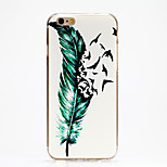Flying Feather Pattern IMD Printed TPU Soft Back Cover for iPhone 6/6S(Assorted Colors)
