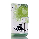 Bicycle Lovers Painted PU Phone Case for iphone 6/6S