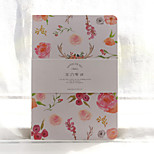 1PC The Remarks Notepad Small And Pure And Fresh Flower A5 Notebook Of The Flower