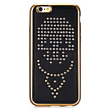 Rivet Leather Series Anchors Pattern Gold Plating Silver Round-Dots Soft TPU Case for iPhone6/6S