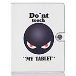 Don't Touch Me Pattern PU Leather Full Body Case with Stand for iPad 2/3/4