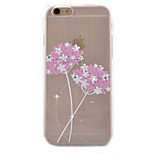 Two Flowers Coloured Drawing Slim TPU Material Phone Case for iPhone 6/6S