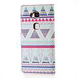 Triangles Pattern Magnetic PU Leather wallet Flip Stand Case cover for Huawei Honor 5X