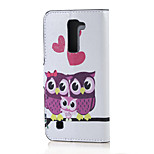 Sweet Owl Family Magnetic PU Leather wallet Flip Stand Case cover for LG K7 LG Tribute 5