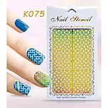 New Nail Art Hollow Stickers Flower Bow-knot Geometric Image  Design  Nail Art Beauty K071-080
