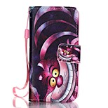 Cat Pattern Wallet Leather Stand Case w/ Card Slots for iPhone SE / 5 / 5S