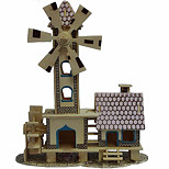 Childishness Hut Wood 3D Puzzles Diy Toys