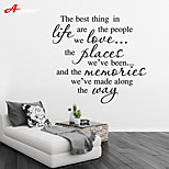 Words & Quotes Wall Stickers Plane Wall Stickers,vinyl 53.4*57cm