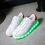 Women's LED Shoes USB charging Fashion Sneakers Outdoor/Athletic/Casual White