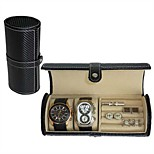 2-Slot Watch and Cufflink Jewellery Travel Roll Organiser Case