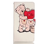 Care Bears Pattern Magnetic Flip Wallet PU Leather Phone Case for Huawei P9