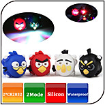 Bike Front Rear Light/Bicycle Safety Lights 2 Mode Waterproof/Bird Shape CR2032 Battery Led Silicone Bike Light/Cycling