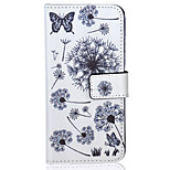 Dandelion Pattern PU Leather Material Phone Case for iPhone 5/5S/iPhone SE