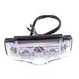 Motorcycle Quad Atv 9 Led Red Rear Tail Light Clear Casing