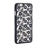 Retro Flower Pattern Openwork Relief Printing PC Material Phone Case for iPhone 6 /iPhone 6S